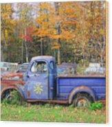 Purple Sunshine Wood Print