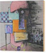 Purple Tie Wood Print