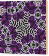 Purple Top Hats Kaleidoscope Wood Print