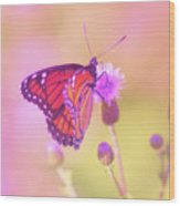 Purple Touch Wood Print