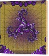 Purple Tripolar Wood Print