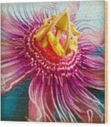 Purple Tropic Wood Print