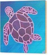 Purple Turtle Wood Print