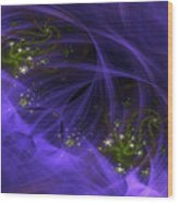 Purple Universe Wood Print