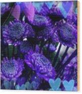 Purple  Valentine Wood Print