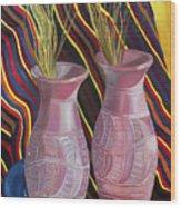 Purple Vases Wood Print