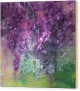Purple Vortex Painting Wood Print