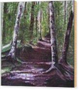 Purple Walk Wood Print