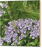 Purple Wall Wood Print