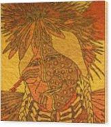 Purple Warrior Wood Print by Austen Brauker