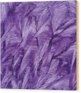 Purple Watercolor Art  Wood Print