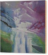 Purple Waterfalls Wood Print