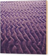Purple Waves Of Sand Wood Print