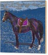 Purple Whiskey Wood Print