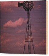 Purple Wind Wood Print