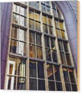Chicago Golden Purple Window Panes Wood Print