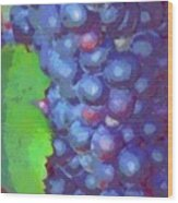 Purple Wine Grapes 2017 Wood Print