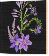 Purples Wood Print