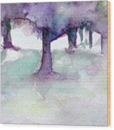 Purplescape II Wood Print