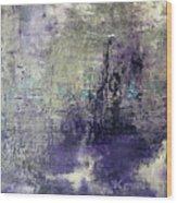 Purpletan Wood Print