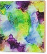 Purplexed Wood Print