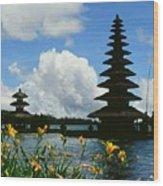 Puru Ulun Danau  Wood Print