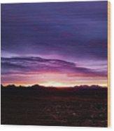 Puruple Sunset Wood Print