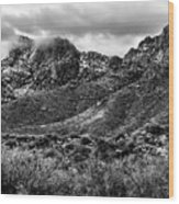 Pusch Ridge Snow No10 Wood Print