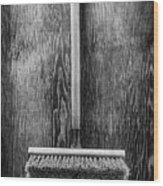 Push Broom Wood Print