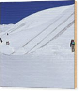 Push For The Pass, Annapurna Circuit Trek, The Himalaya, Nepal Wood Print
