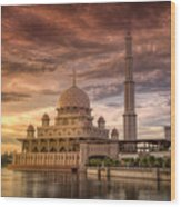 Putrajaya Beauty At Dusk Wood Print