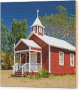 Pu'uanahulu Baptist Church - Pu'uanahulu Wood Print