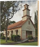 Pu'ula Congregational Church - Nanawale Wood Print