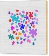 Puzzle Pieces Wood Print