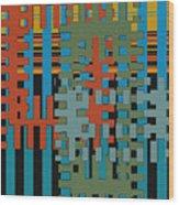 Puzzled Wood Print by Ben and Raisa Gertsberg