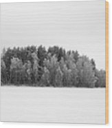 Pyhajarvi Winter 1 Wood Print