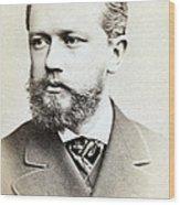 Pyotr Ilyich Tchaikovsky, Russian Wood Print
