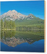 Pyramid Island In The Pyramid Lake Wood Print