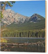Pyramid Mountain In The Morning Wood Print