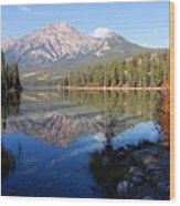 Pyramid Moutain Reflection Wood Print