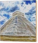 Pyramid Of The Maya  Wood Print