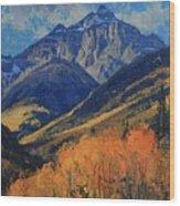 Pyramid Peak Wood Print