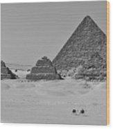 Pyramids At Giza Wood Print