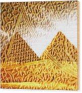 Pyramids Wood Print