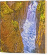 Pyrenees Spanish Bridge Waterfall Wood Print