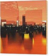 Q-city Zero Wood Print