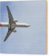 Qantas In Flight Wood Print