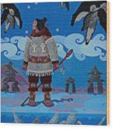 Qikiqtaaluk Whale Dreamer Wood Print