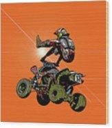 Quad Rider Series Wood Print