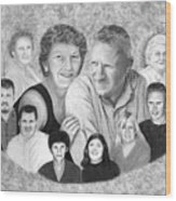 Quade Family Portrait  Wood Print